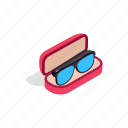 box, eyeball, glasses, human, isometric, look, view icon