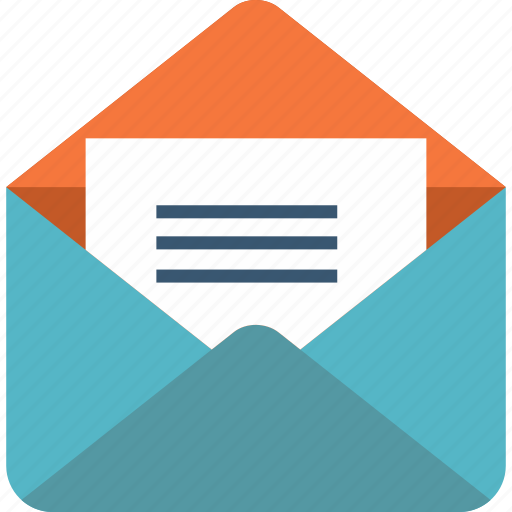 communications, email, envelope, letter, mail, message, note icon