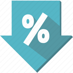 commerce, discount, label, percentage, tag icon