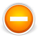 minus, orange icon