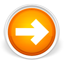 arrow, forward, lanjut, next, orange, right icon