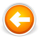 arrow, back, grey, left, orange icon