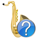 instrument, saxophone icon
