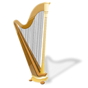 harp, instrument, music icon