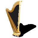 harp, music, instrument icon