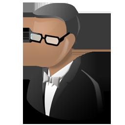 butler, galla, man, smoking, user icon