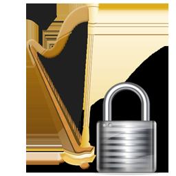 lock, recyclebin icon