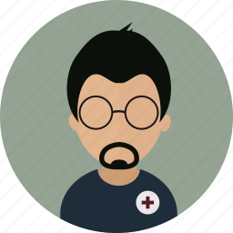 ambulance, er, hospital, medic, paramedic, person icon