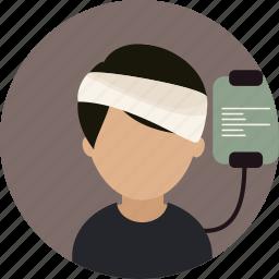 healtcare, hospital, injury, patient icon