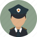 avatar, captain, crime, officer, police, policeman icon