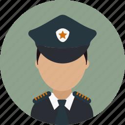 avatar, captain, crime, officer, police, policeman icon