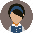 airplane, flight, job, stewardess icon