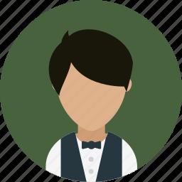 avatar, hotel, restaurant, services, waiter icon