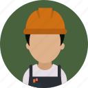 builder, construction, helmet, repair, services, worker icon