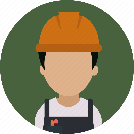 builder, construction, helmet, repair, services, worker icon