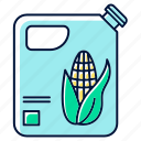 alternative, biofuel, bottle, corn, fuel, oil, petroleum icon