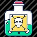 chemical, dangerous, harmful, liquid, poison, potion, warning icon