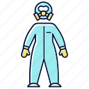 biohazard, blue, laboratory, protection, protective, safety, suit