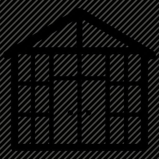 eco friendly home, farming method, greenhouse, urban farming, vertical farming icon