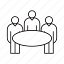 group, meeting, person, table icon
