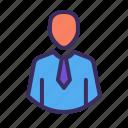 man, profile, staff, male