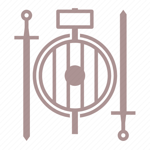 fantasy, game, hammer, roleplay, rpg, shield, sword icon