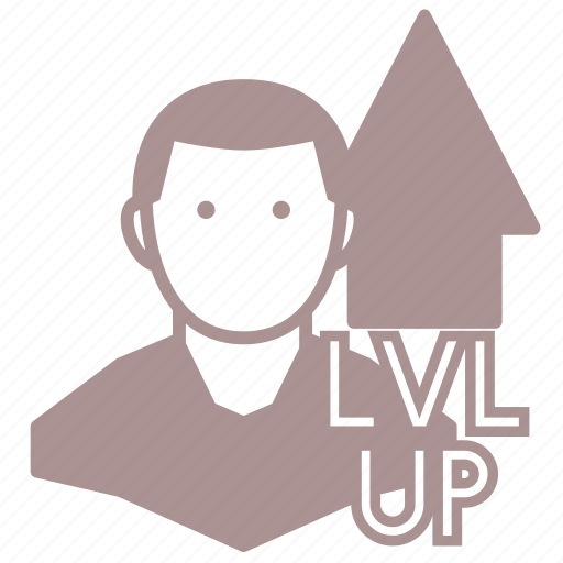 gamer, level up, lvl up, player, roleplay, rpg icon