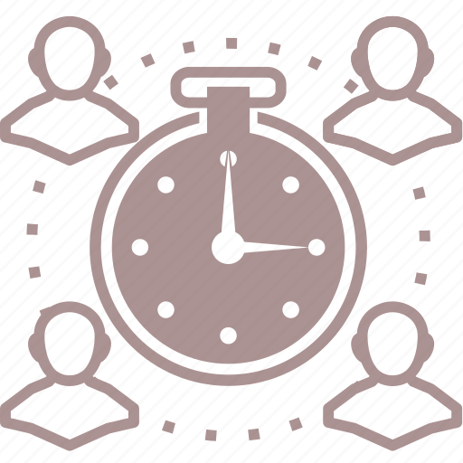 clock, roleplay, rpg, team, time, time management icon
