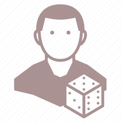 d6, dice, gamer, player, roleplay, rpg icon