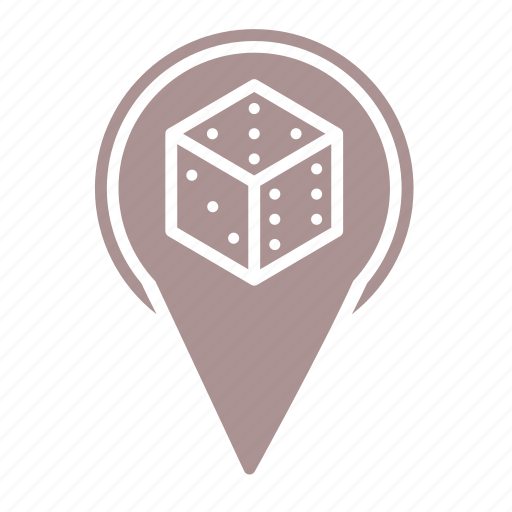 d6, dice, game, location, roleplay, rpg icon