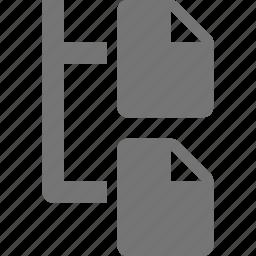 document, file, organization icon