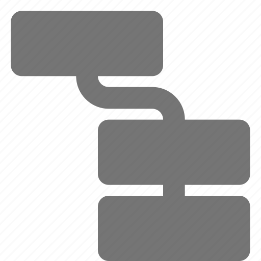 flowchart, organization icon