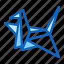 bird, craft, crane, japanese, origami, paper icon