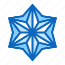 craft, flower, origami, paper, star icon