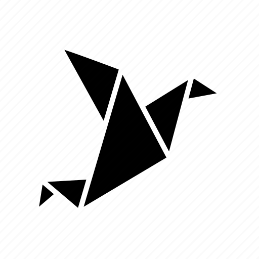 animal, bird, folded, origami, paper, toy icon