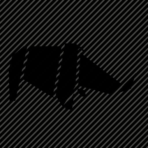 animal, folded, origami, paper, rhino, rhinoceros, toy icon