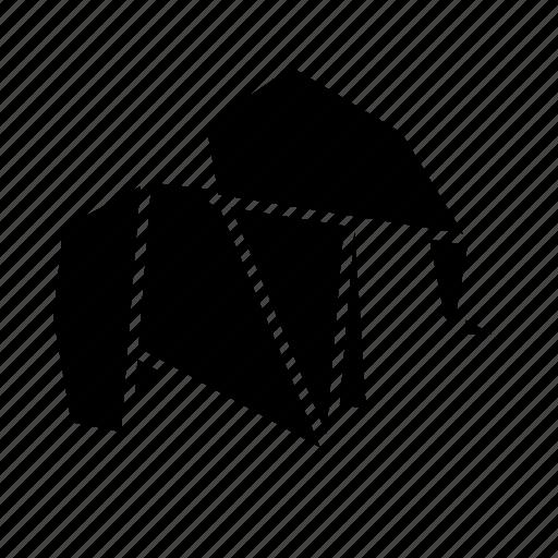 animal, elephant, folded, origami, paper, toy icon