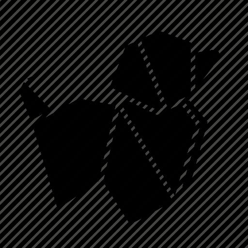animal, dog, folded, origami, paper, toy icon