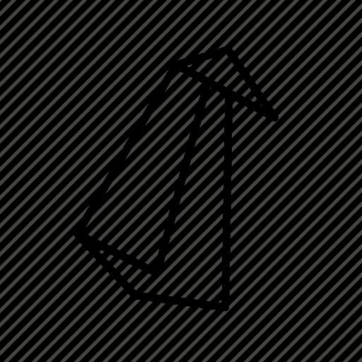 animal, arctic, folded, origami, paper, penguin, toy icon