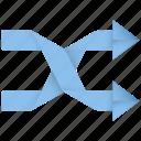 randomize, arrow