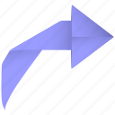 arrow, forward, redo, restore, revert, right, rotate, turn icon