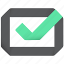warranty, correct, safe, good, ok, nice, successful, verify, agreed, checkmark, accept, agree, tick, right, done, choice, ready, accepted, fine, check, approved, origami icon