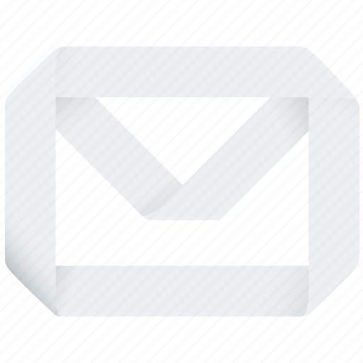 contact, email, envelope, letter, origami, post, send icon