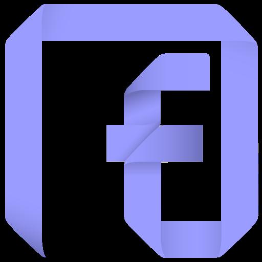 channel, f, facebook, fan, fan page, follow, origami, page, paper, social, social media icon