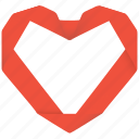 fan, heart, marriage, love, like, relationship, loved, bookmark, relation, admire, favourite, adore, interest, wedding, dear, amour, affection, origami icon