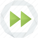 audio, fast forward, forward, multimedia, next, player, skip, video icon