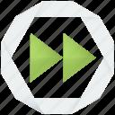 fast forward, skip, multimedia, next, player, video, forward, audio icon