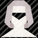 profile, account, woman, head, face, person, user, female, girl icon