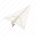 paper plane, post, send, letter, forward, mail, airplane, email, origami icon