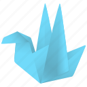 bird, fan, fan page, follow, origami, tweet icon